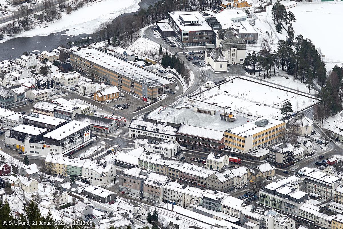 Voss Gymnas, Industribygget, Tundal Gravplass, Voss Parkering, Domuskrysset, Sverresplass, Vangen Skule, Uttrågata, Vangsgata